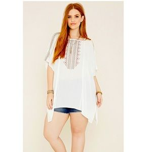 Forever 21 Plus Size Embroidered Cover Up